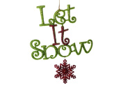 Christmas Traditions Ornament - Let It Snow - Lime Green & Red