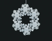 Christmas Traditions Ornament - Silver Snowflake Wreath - 13cm