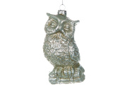 Christmas Traditions Ornament - Antique Silver Owl