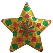 Huge Oversize Paper Mache Large Star Ornament 38cm x 10cm x 38cm