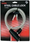 Long Steel Cable Lock W/Keys 25-