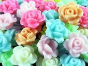 BARGAIN HOUSE 50 X Lovely colourful rose Flower for Baby Girls