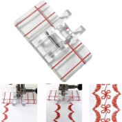 YRD TECH Clear Plastic Parallel Stitch Foot Presser For Home Domestic Sewing Machine