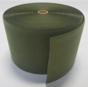 15cm OD (OLIVE) GREEN SEW-ON HOOK and LOOP FASTENER - HOOK SIDE ONLY - 1 YARD