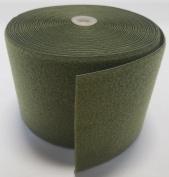 15cm OD (OLIVE) GREEN SEW-ON HOOK and LOOP FASTENER - LOOP SIDE ONLY - 1 YARD