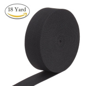 BeRicham 18 Yard High Elasticity Thicker Elastic Spool for Arts, Crafts & Sewing, Black