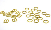 100 pcs/lot Size6mm/ 8mm/10mm/12mm/15mm Rose gold/Gold/Sliver bra rings and sliders Underwear accessories