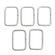 20Pcs Silver Metal Square Ring Webbing Buckles Strapping Belt for DIY Luggage Sewing Handmade Bag Purse