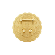 RZDEAL Antique Round Embossing Brass Buckle Lock Latch Furniture Accessory Decorative Decor Wood Case Jewellery Box