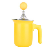 TAMUME Manual Milk Frother Jug and Plunger for Cappuccino Coffee Maker, Stovetop Use for Making Hot Froth