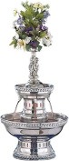 Buffet Enhancements 1BMFDC3SS Stainless Steel Champagne Fountain with Silver Rope Trim, 11.4l