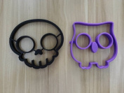 Feesy Skull+Owl Egg Mould,Biscuit Mould Cookie Cutter