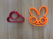 Feesy Cloud+Rabbit Egg Mould,Biscuit Mould Cookie Cutter