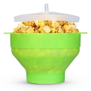 Shopshopdirect Microwave Popcorn Popper, Silicone Popcorn Maker, Collapsible Bowl BPA Free