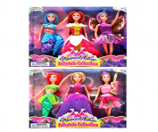 6 Mermaid Princess Doll Pack for Little Girl Toy and Play Gift Set