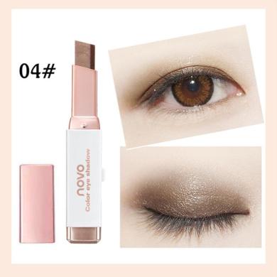 Pulison(TM) New Eye Cream Pen Gradient Two-Colour Eye Shadow Stick Shimmer Palette (D)