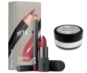 A set of BITE BEAUTY The Perfect Pair Amuse Bouche Lipstick and Lip Pencil Nude - Amuse Bouche Pepper/ Lip Pencil 016 and Wet'n Wild Shimmer Dust