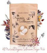 Memoir Organic Silkworm Finger Rub - Facial Cleanser, Blackhead & Acne Scar Removal, Anti-Ageing, Wrinkle Removal Beauty Scrub. Use daily to achieve Healthy Glowing Skin