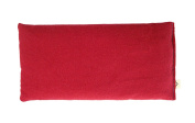 Peacegoods Unscented Organic Flax Seed Eye Pillow - Soft Cotton Flannel 4 x 8.5 - red