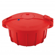 SilverStone Microwave Cookware BPA-Free Microwavable Pressure Cooker, Large, Chilli Red