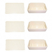 Combo Pack, 3 Drip Pans and 3 Drip Pan Covers, Replaces Crathco 2231 & 2232