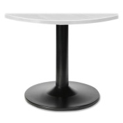 Lorell Steel Base for 110cm /120cm Tops, 24 by 60cm by 70cm , Black