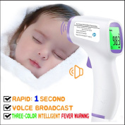 Forehead Thermometer with Voice Reading.Digital Infrared Non-Contact Suitable for Baby, Toddlers and Adults And Object with Instant Results