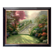 Landscape Oil Paintings Canvas with Wood Frame Prints Gorgeous Stairway to Paradise Picture for Home or Office Wall Decoration, Easy to Hang, 50cm x 41cm