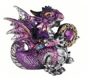 George S Chen Purple Scorpio Dragon Holding Zodiac Stone Bright Metallic Fiery Fiend will Brighten Up Any Room 71561