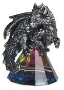 George S Chen Silver Dragon on Pyramid Rainbow Glass Prism 71683
