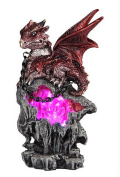 George S Chen Red Dragon With Led Light Crystal and Chain 71651