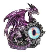 George S Chen Purple Dragon Figurine With Dragon Eye 14cm X 14cm X 8.9cm 71656