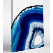 One Bella Casa 75039WD16 41cm x 50cm . Geode Abyss Silver Canvas Wall Decor - Blue
