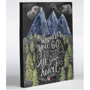 One Bella Casa 73423WD20 50cm x 60cm . Go with All Your Heart Canvas Wall Decor by Lily & Val - Grey & Multi Colour