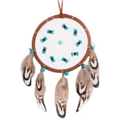 BUYITNOW Indian Turquoise Dream Catcher 20cm Long Car Wall Hanging Feather Dreamcatcher