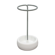 Diamond Sofa Gigi Grey Metal White Polypropylene (PP) Base Umbrella Holder Stand