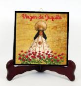 Nuestra Señora de Juquila Patrona de Oaxaca Mexico Mejico Losa de Porcelana o Altar Hecha a Mano Incluye Caballete