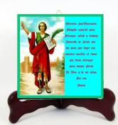 San Pancracio Patron de los Trabajadores Porcelain Tile or Altar (6 x 6) Incluye Postal de Rezo