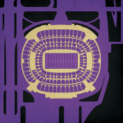 M & T Bank Stadium Map Art, 36cm Gallery Wrapped Canvas