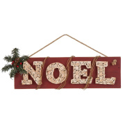 "Glitzhome 50cm L Wooden ""NOEL"" Wall Sign"