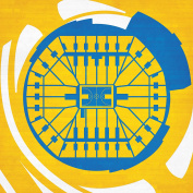 Oracle Arena Map Art, 36cm Gallery Wrapped Canvas