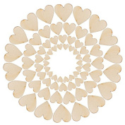 Freedi Wooden Confetti Love Heart 100Pcs Wedding Table Rustic Scatters DIY Crafts Party Decor