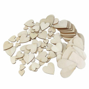 Freedi Wooden Confetti Love Heart 4Pack Wedding Table Rustic Scatters DIY Crafts Party Decor