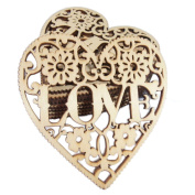 Freedi Wooden Confetti Love Heart 30Pcs Wedding Table Rustic Scatters DIY Crafts Party Decor