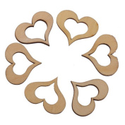 Freedi Wooden Confetti Love Heart 250Pcs Wedding Table Rustic Scatters DIY Crafts Party Decor