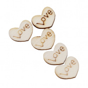 HS 100pcs/pack Bakelite Wooden Love Heart Wedding Table Scatter Wedding Party Decoration Crafts