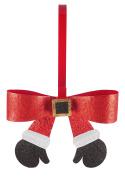 Glittery Santa Claus Arms Wreath Holder