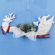 Christmas Tree Snowflake Deer Cart Ornament Wall Door Hanging Decor Home Xmas Party Decor