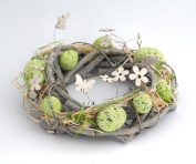 Decorations Decoration wreath 23x23x7cm AGAIN Easter ring table ring