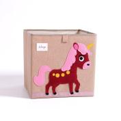 Storage Box Toy Bins ,FurnitureMz Provide a Larger Storage Space for Your Child.Unicorn